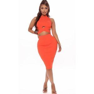 NEW! Orange Two piece set (skirt)